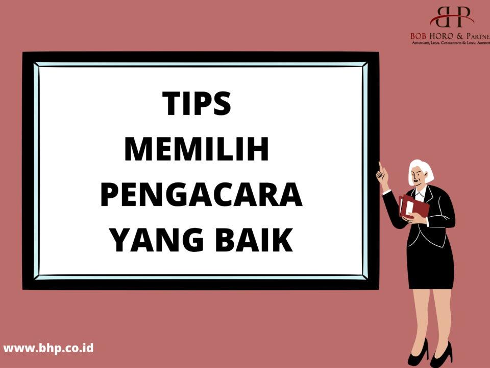 tips memilih pengacara